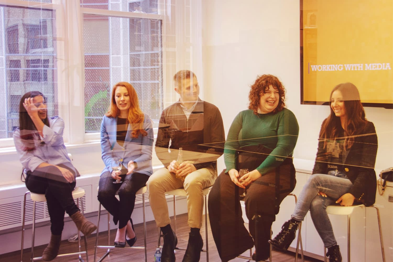 Harbinger Panel: April Kalloo, Sabrina Maddeaux, Matthew Pierce, Lora Grady, Carly Ostroff